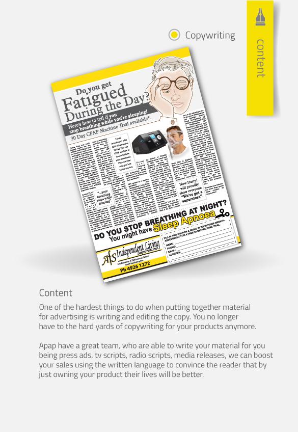 APAP Events Event Management and Graphic Design Rockhampton Copywriting and Marketing