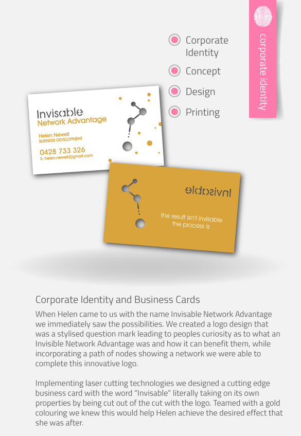 APAP Events Event Management and Graphic Design Rockhampton Invisable Network Advantage Business Cards