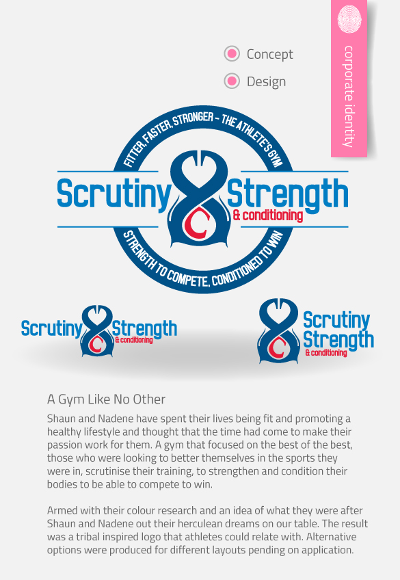 APAP Events Event Management and Graphic Design Rockhampton Scrutiny Strength and Conditioning Logo Design