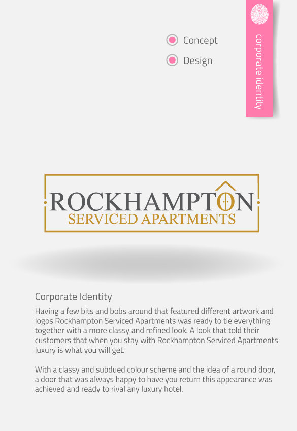 APAP Events Event Management and Graphic Design Rockhampton Rockhampton Serviced Apartment Logo Creation