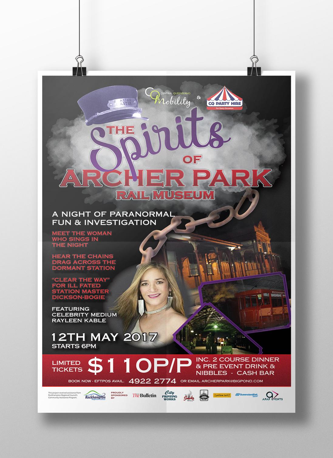 APAP Events Event Management and Graphic Design Rockhampton Spirits of Archer Park Poster and Logo Design