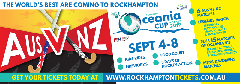 Oceania Cup Hockey 2019 Press Ad APAP Events Graphic Design and Event Management Rockhampton
