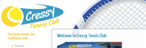 APAP Events Website Design Rockhampton Cressy Tennis Website Preview