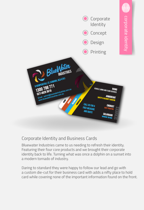 APAP Events Event Management and Graphic Design Rockhampton Bluewater Industries Custom Logo and Business Cards