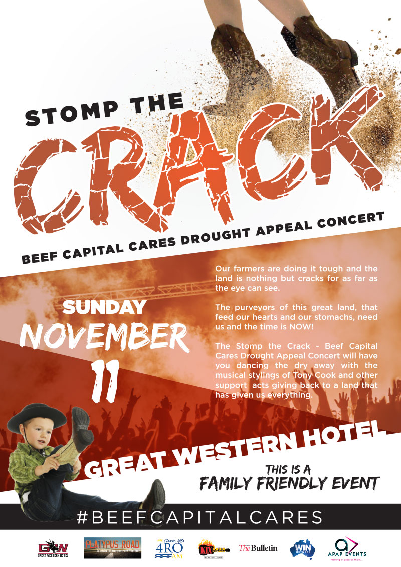 APAP Events Event Management and Graphic Design - Stomp the Crack Drought Appeal