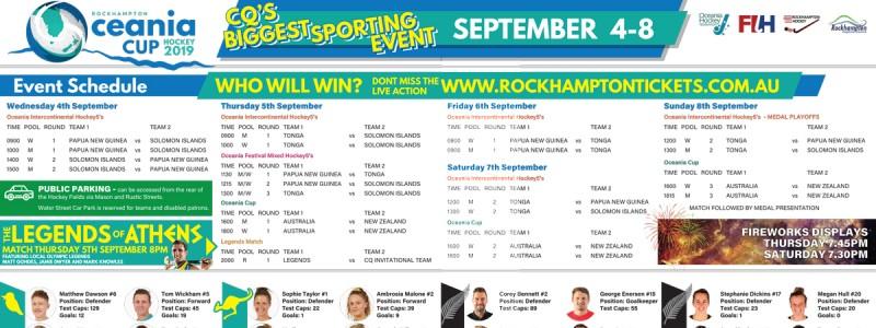 APAP Event Management and Graphic Design Rockhampton - Oceania Cup Press Ad