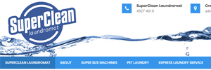 APAP Events Website Design Rockhampton Superclean Laundromat Website Preview
